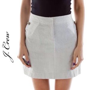 J. Crew Seersucker Striped Mini Skirt